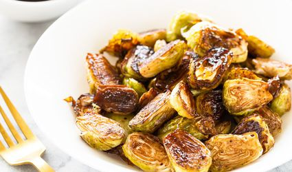 Oven-Roasted Brussels Sprouts With Balsamic Vinegar