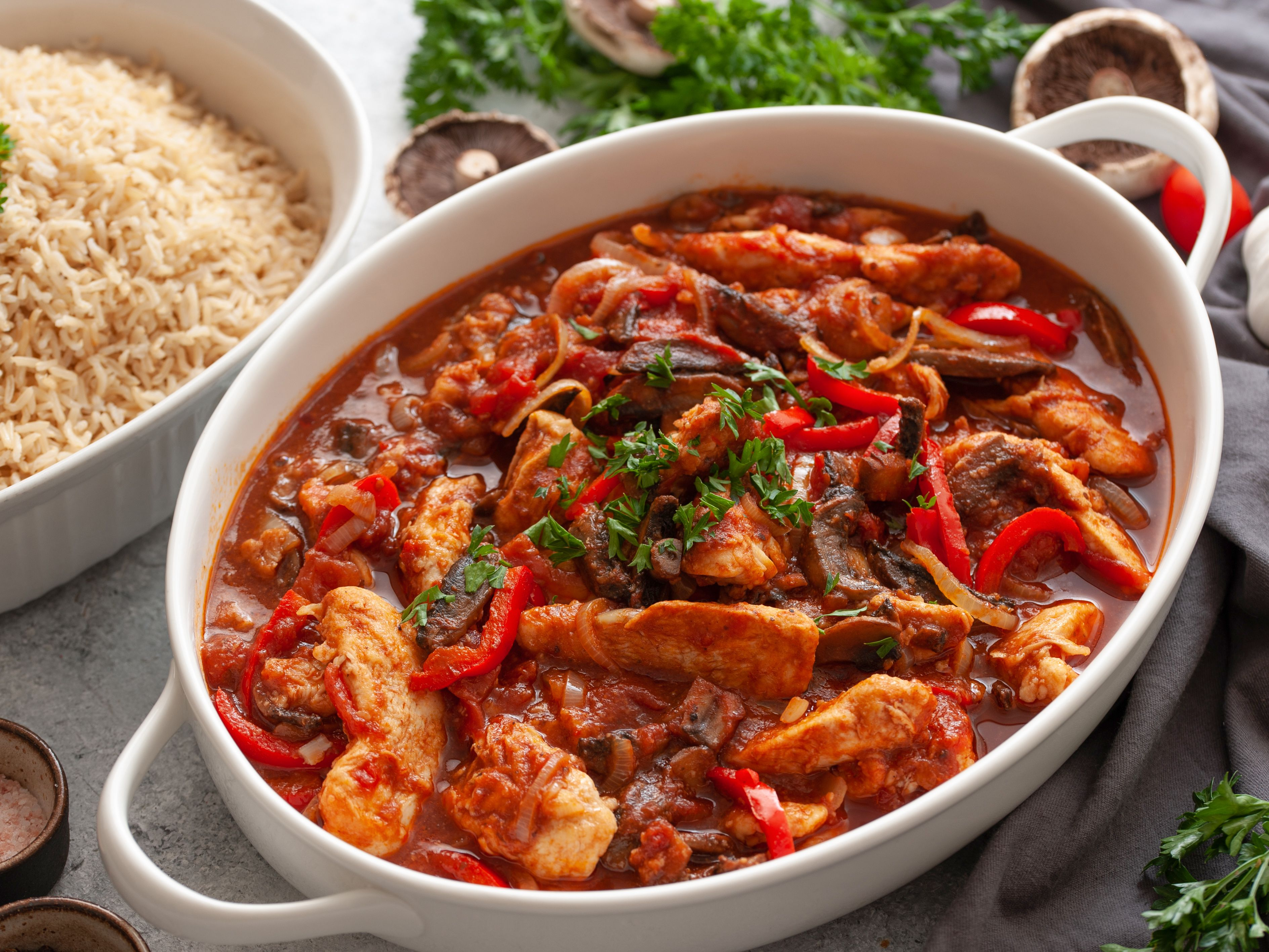 Chicken Marengo With Mushrooms And Tomatoes Recipe