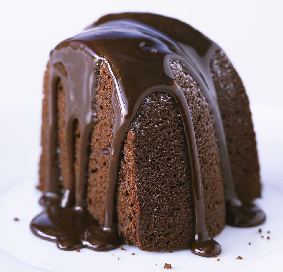Dark Chocolate Bundt Cake With Glaze