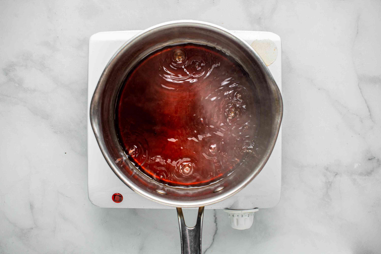 combine dashi soup stock, soy sauce, sugar, and mirin in a saucepan