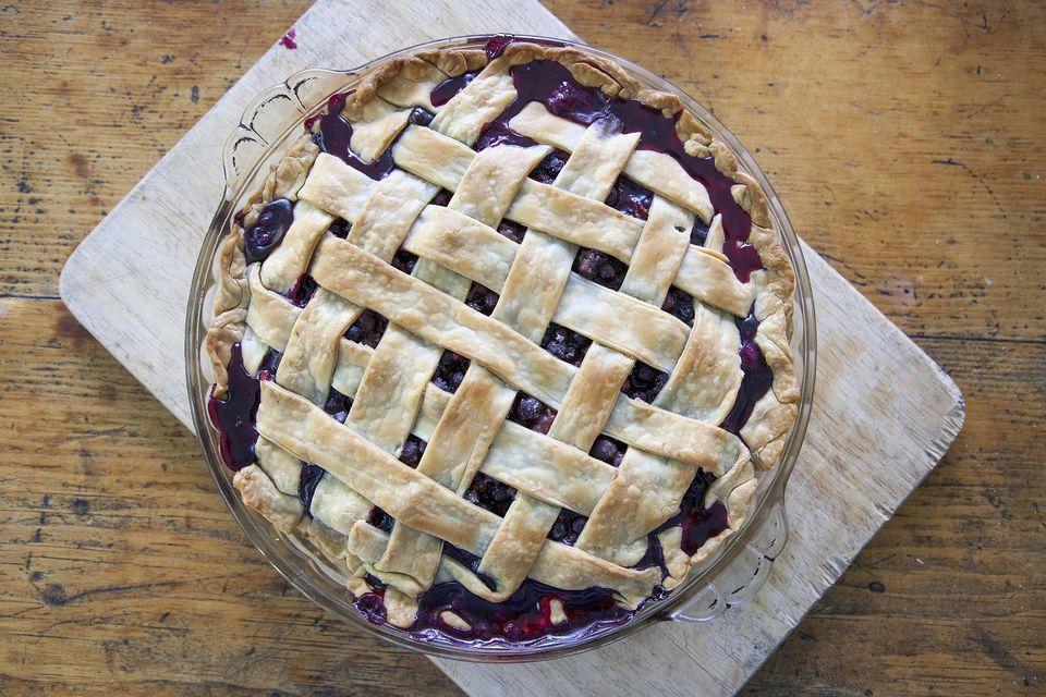 Lattice Billberry Pie