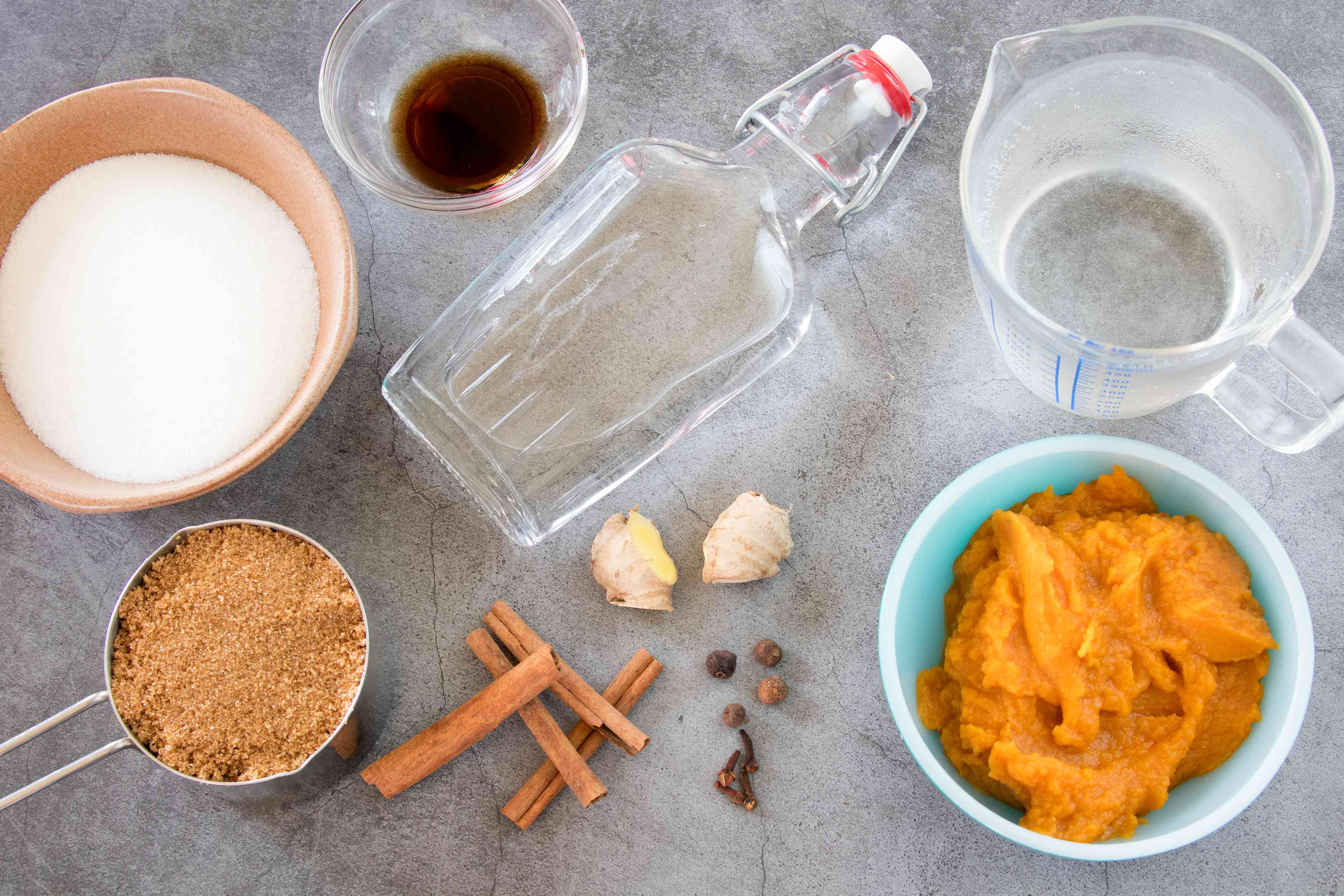 Ingredients for Homemade Pumpkin Liqueur