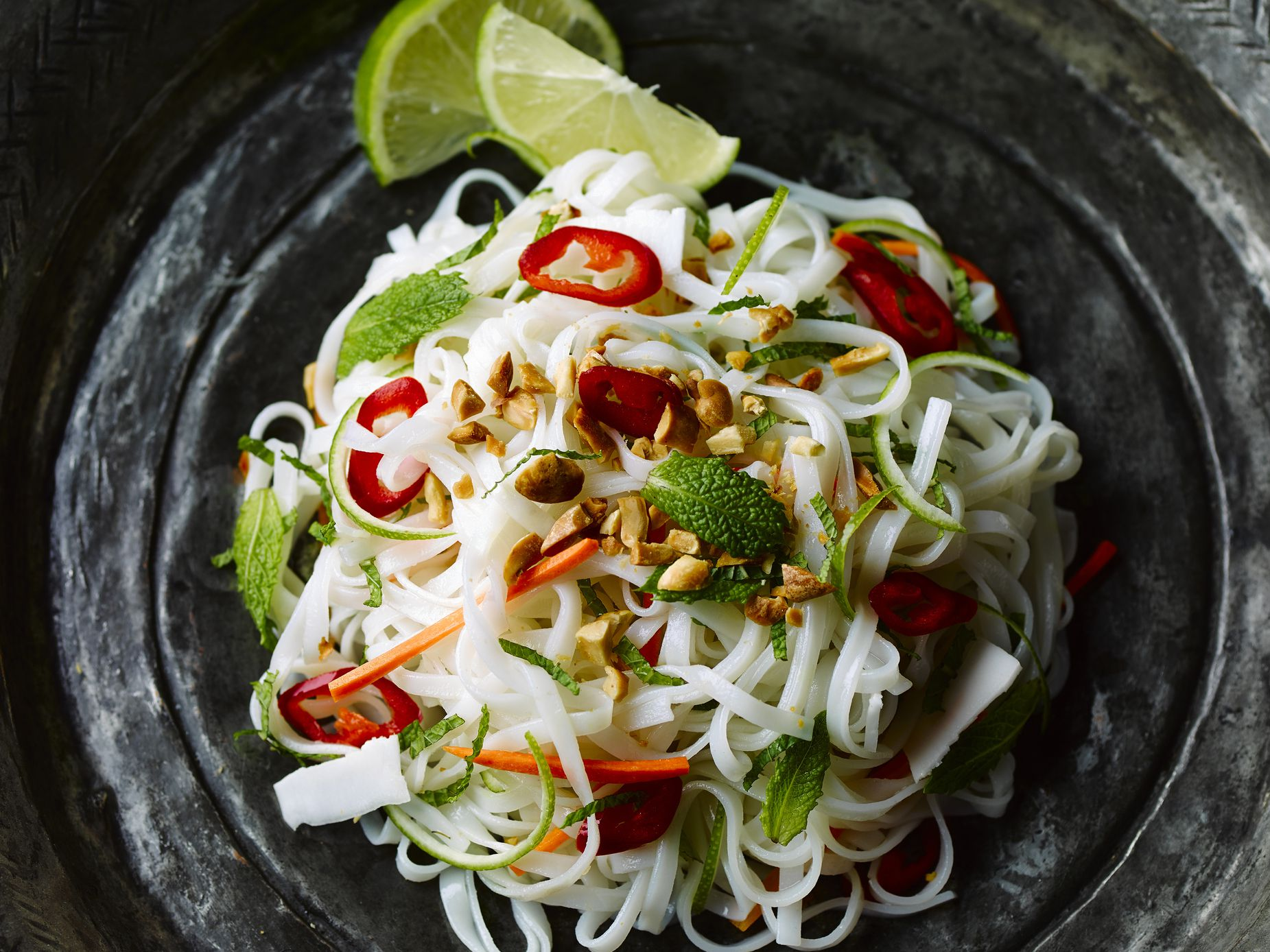 Easy Thai Vegetarian Rice Noodles With Basil Recipe