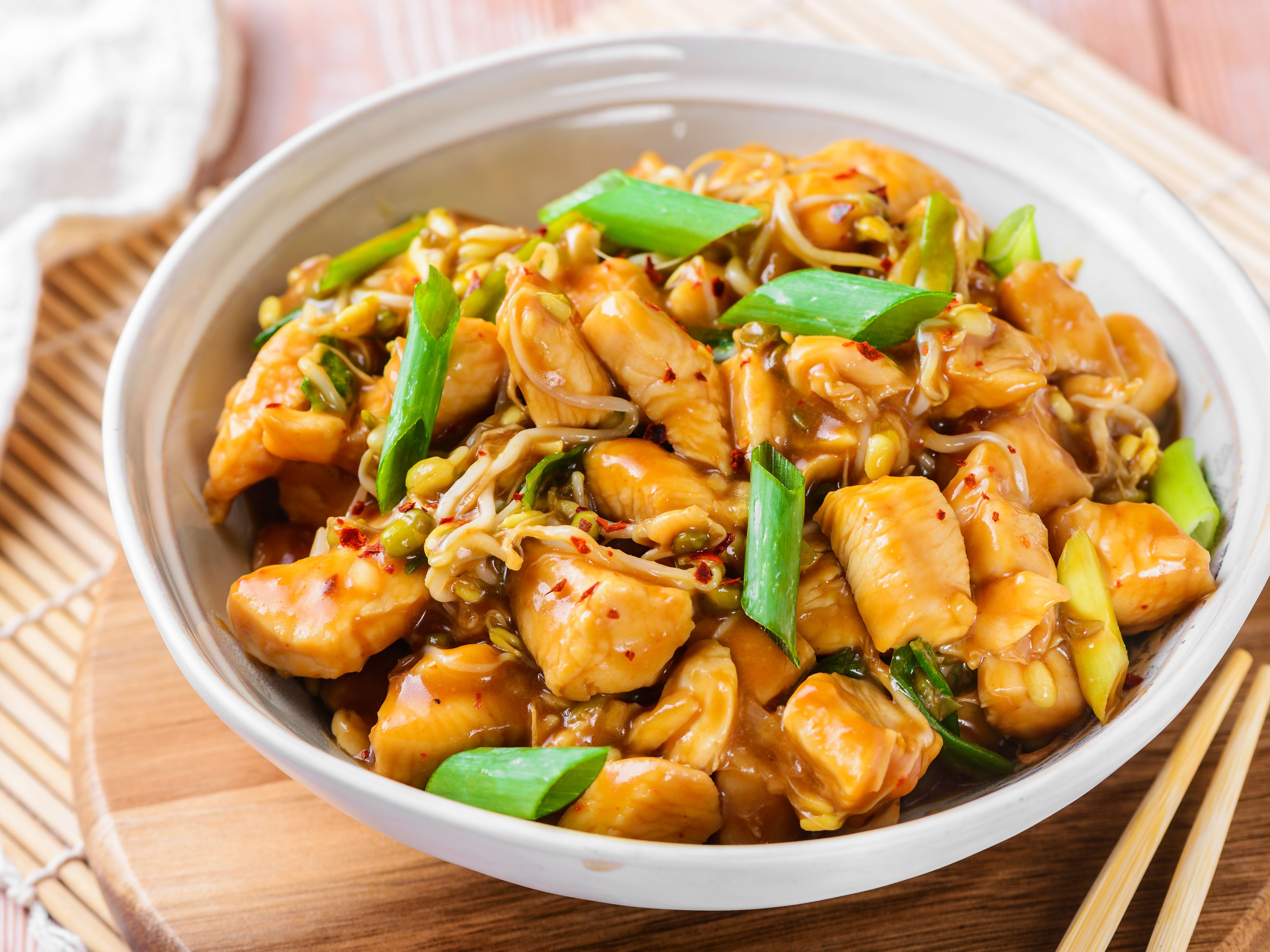 Mongolian Chicken Recipe With Mung Bean Sprouts Recipe