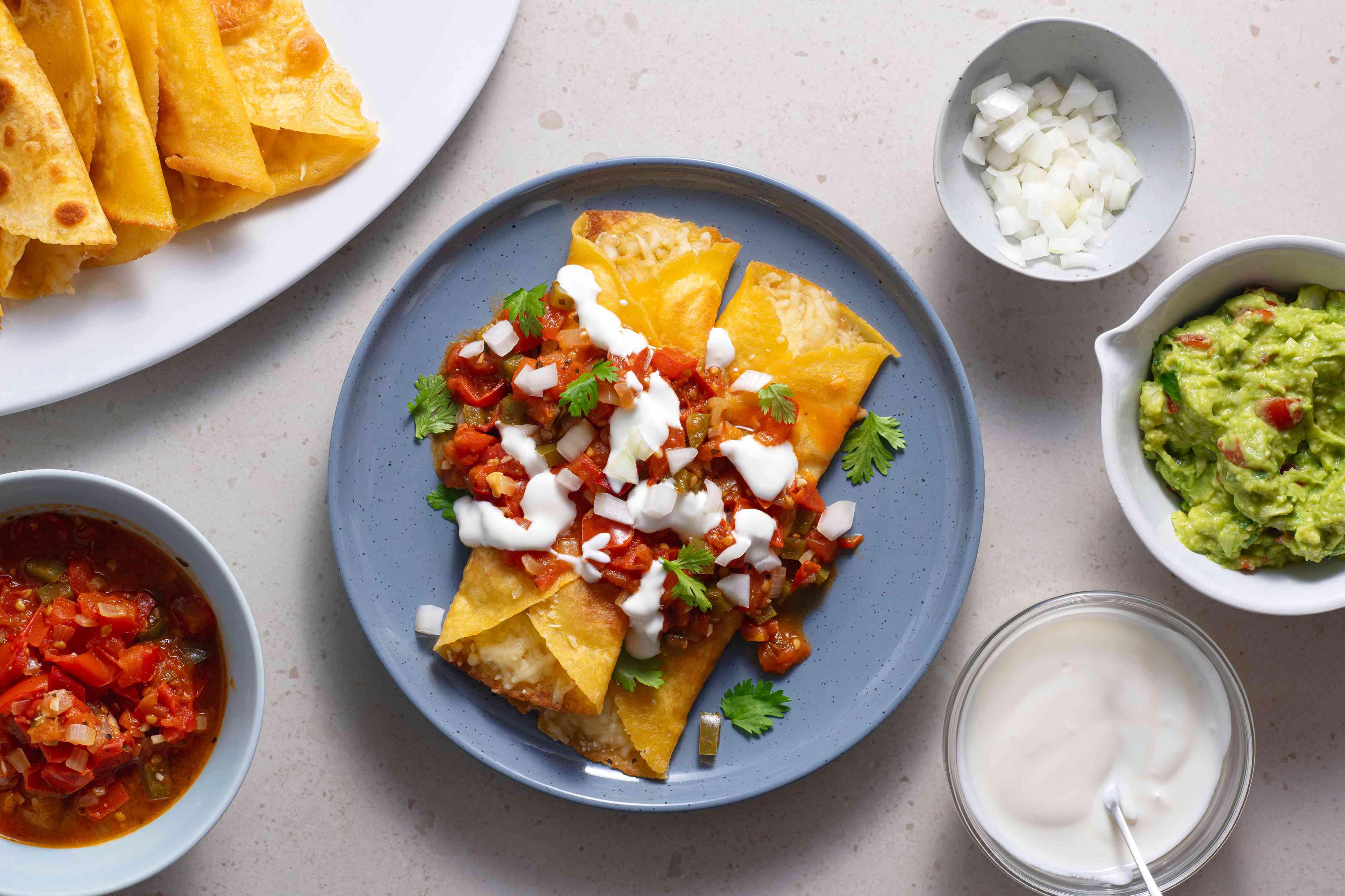 Enchiladas on a plate
