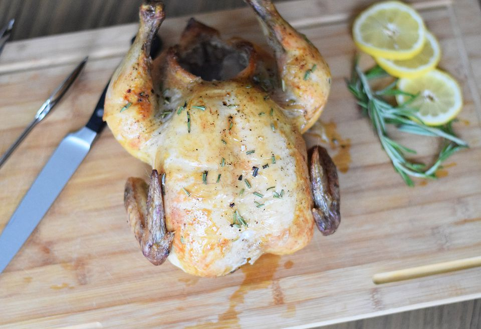 Carving a Rotisserie Chicken