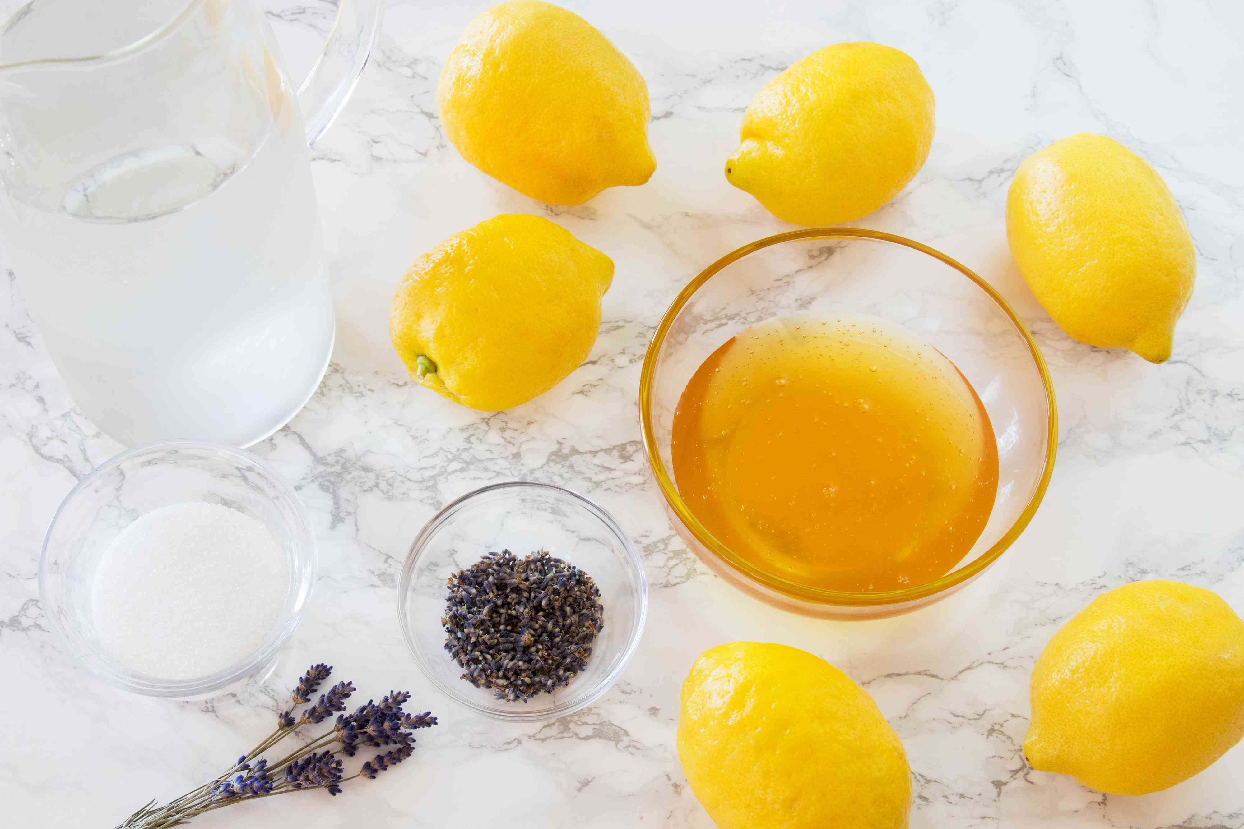 Ingredients for Lavender Lemonade