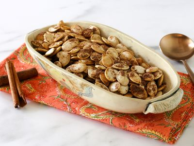 Sugar and Spice Roasted Pumpkin Seeds