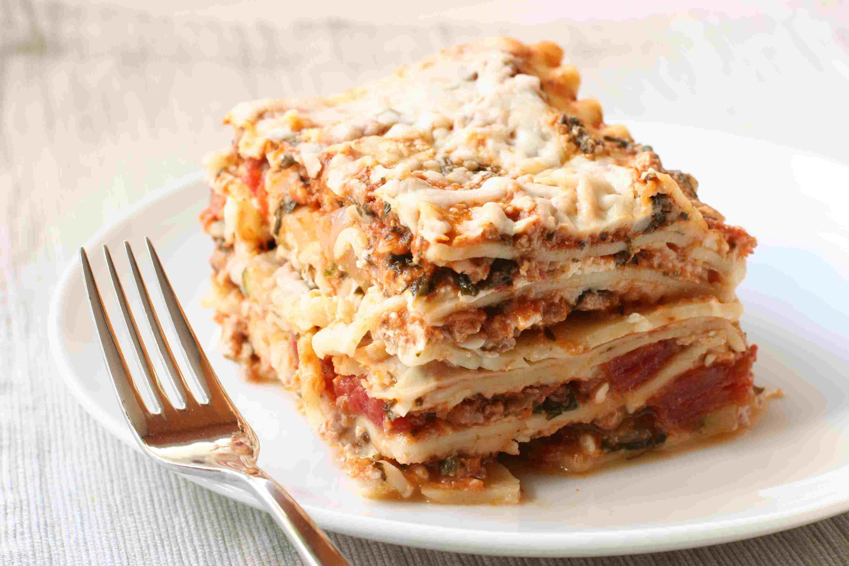 Many layers of lasagna
