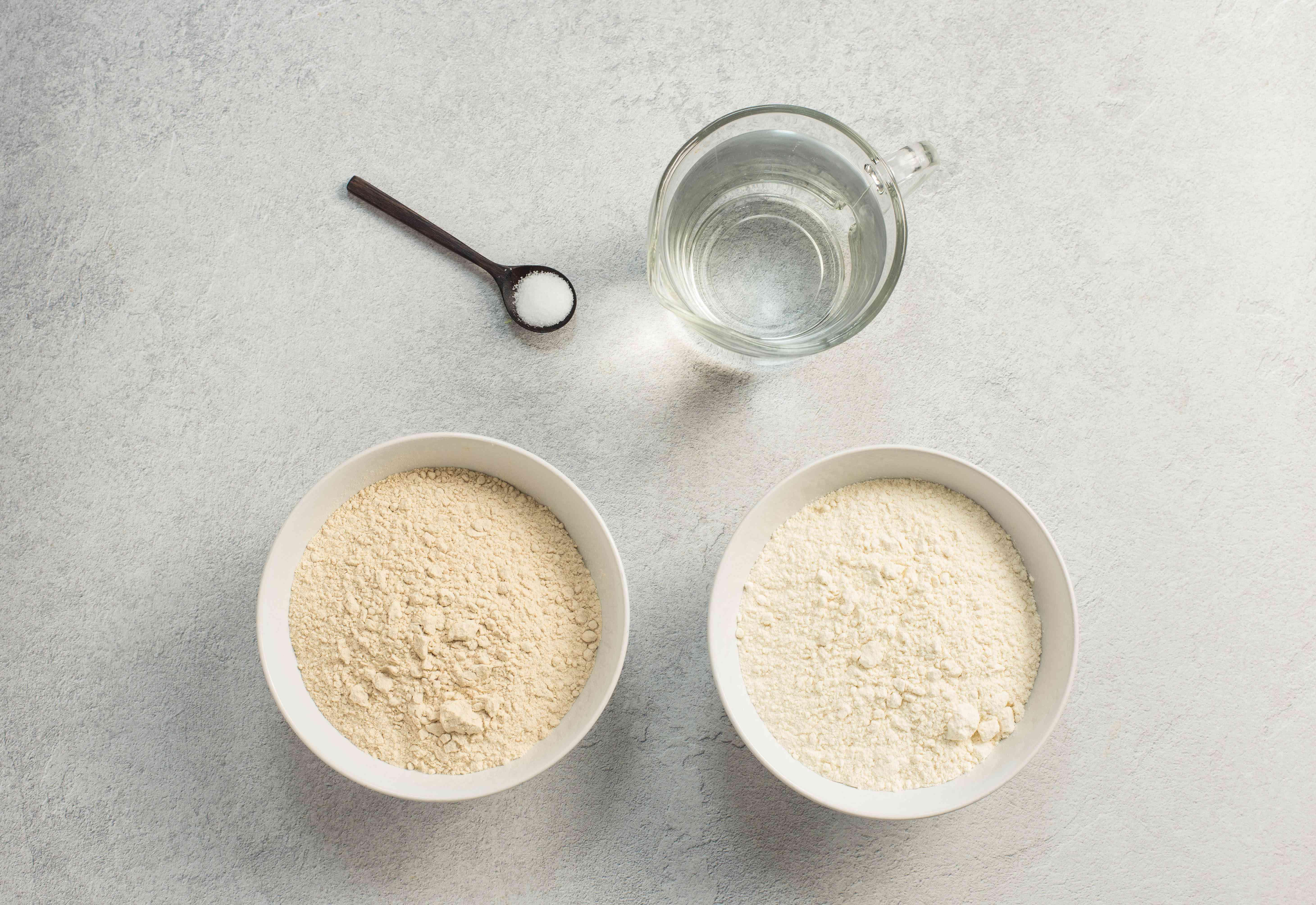 Ingredients for making injera