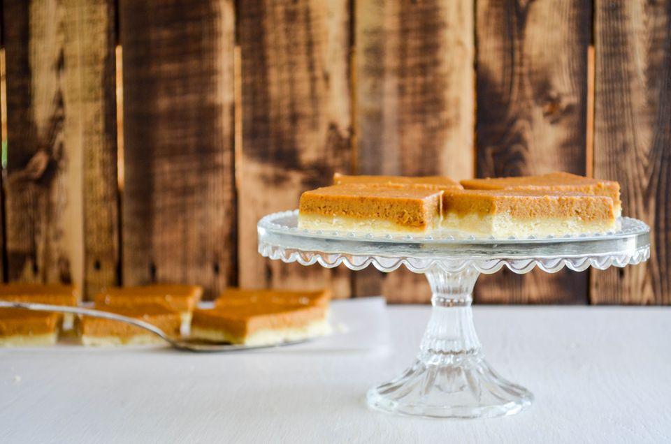 Barras de pastel de calabaza