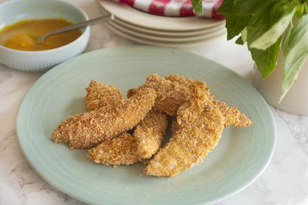 Crispy But Not Fried Chicken Strips Recipe