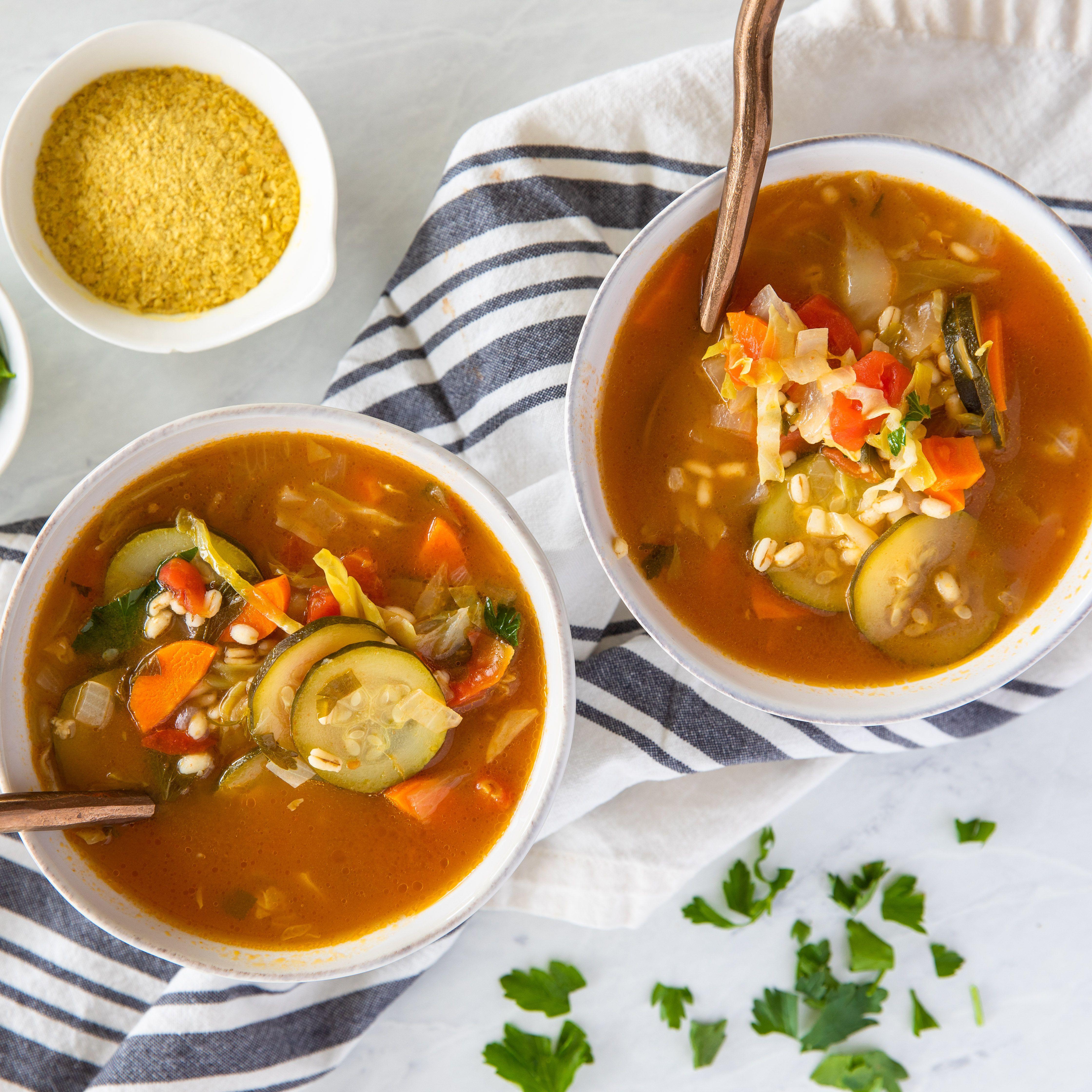 Easy Vegetarian Barley And Vegetable Soup Recipe