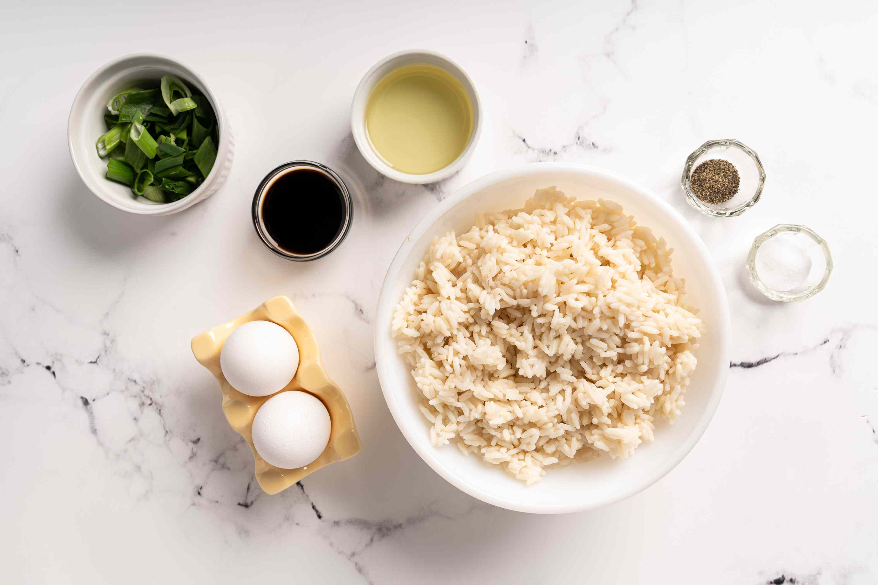 Ingredients for plain fried rice