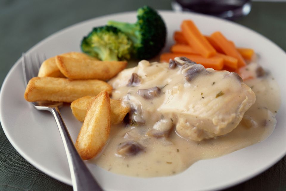 Mushroom sauce for fish and seafood