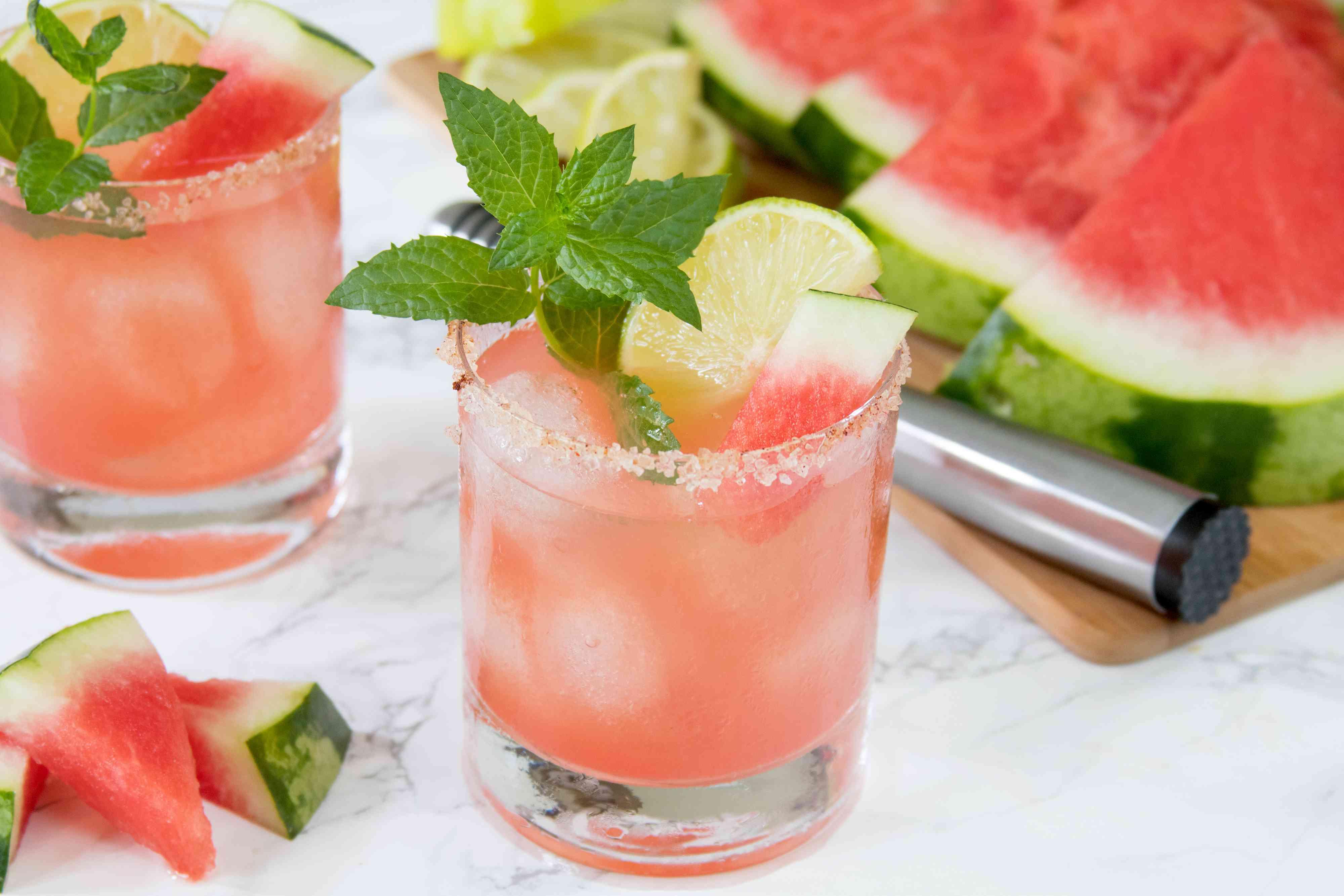 Fresh Watermelon Margaritas