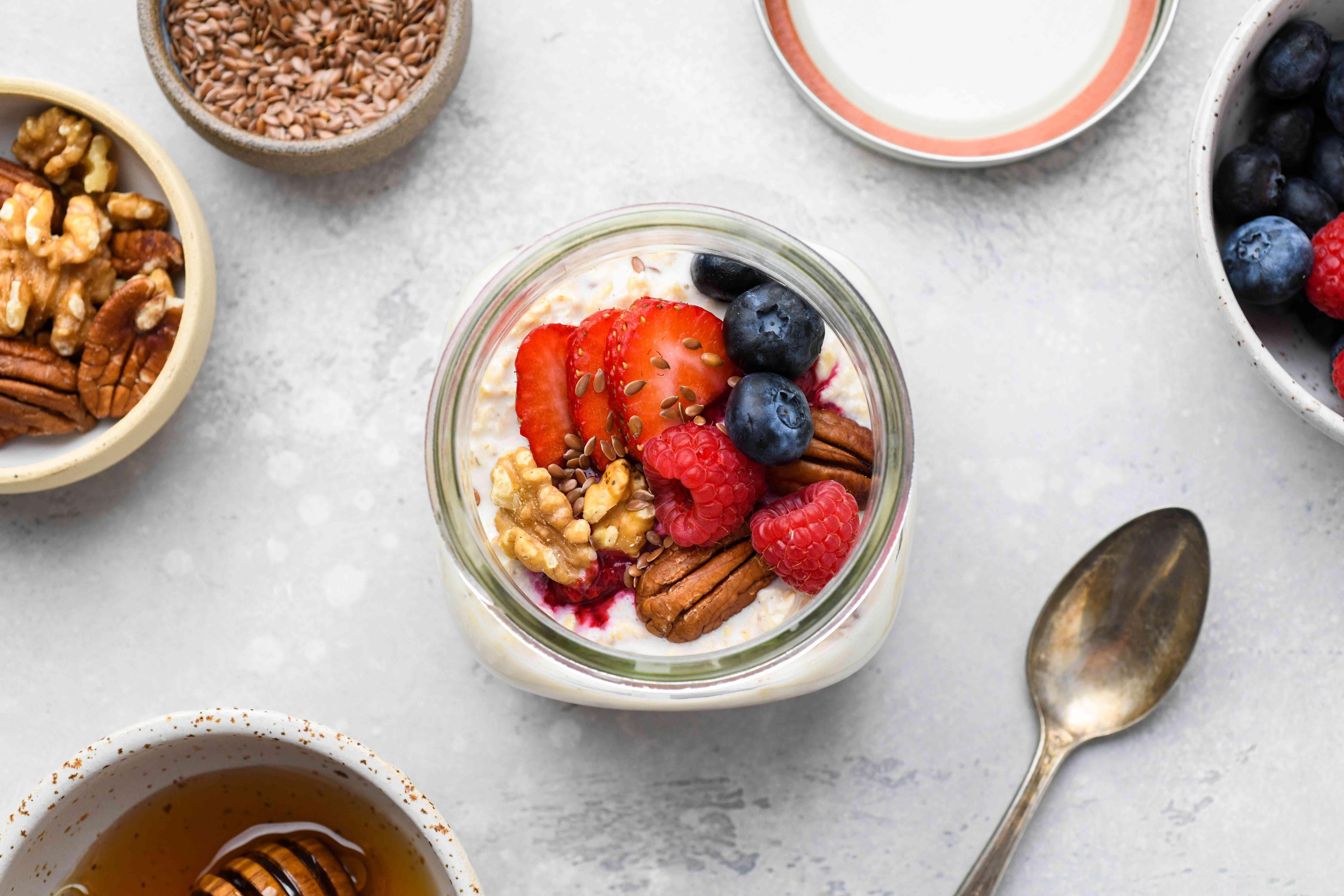 Gluten-Free Overnight Oats in a jar