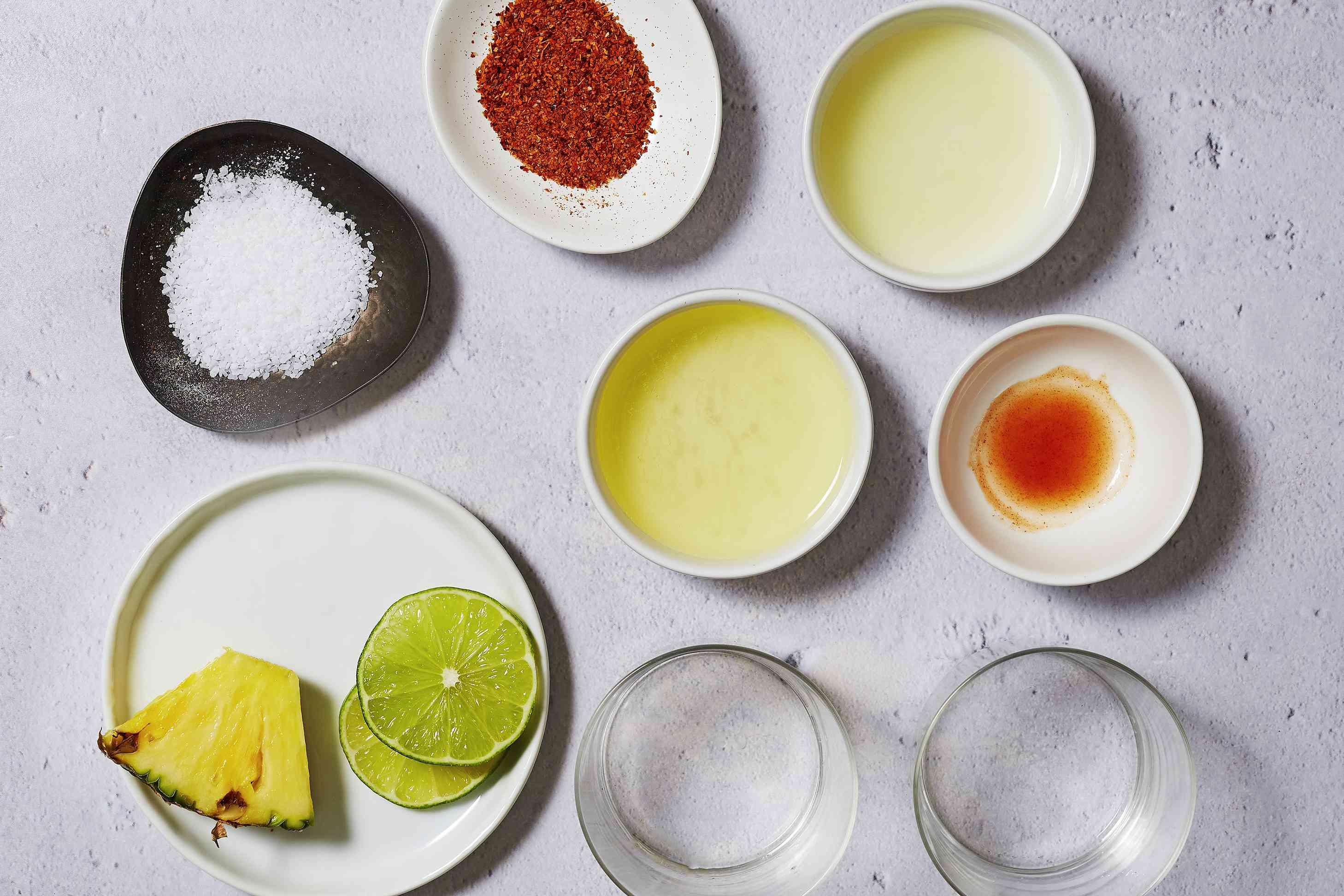 Pineapple Chili Margarita ingredients