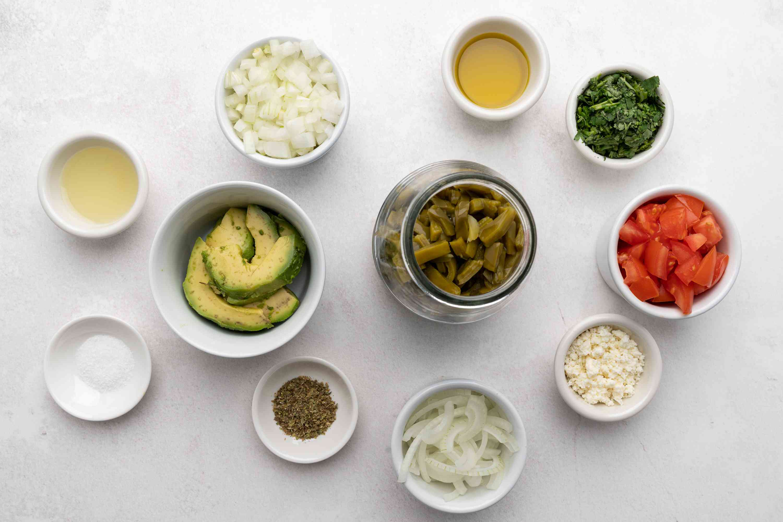 Cactus Salad ingredients