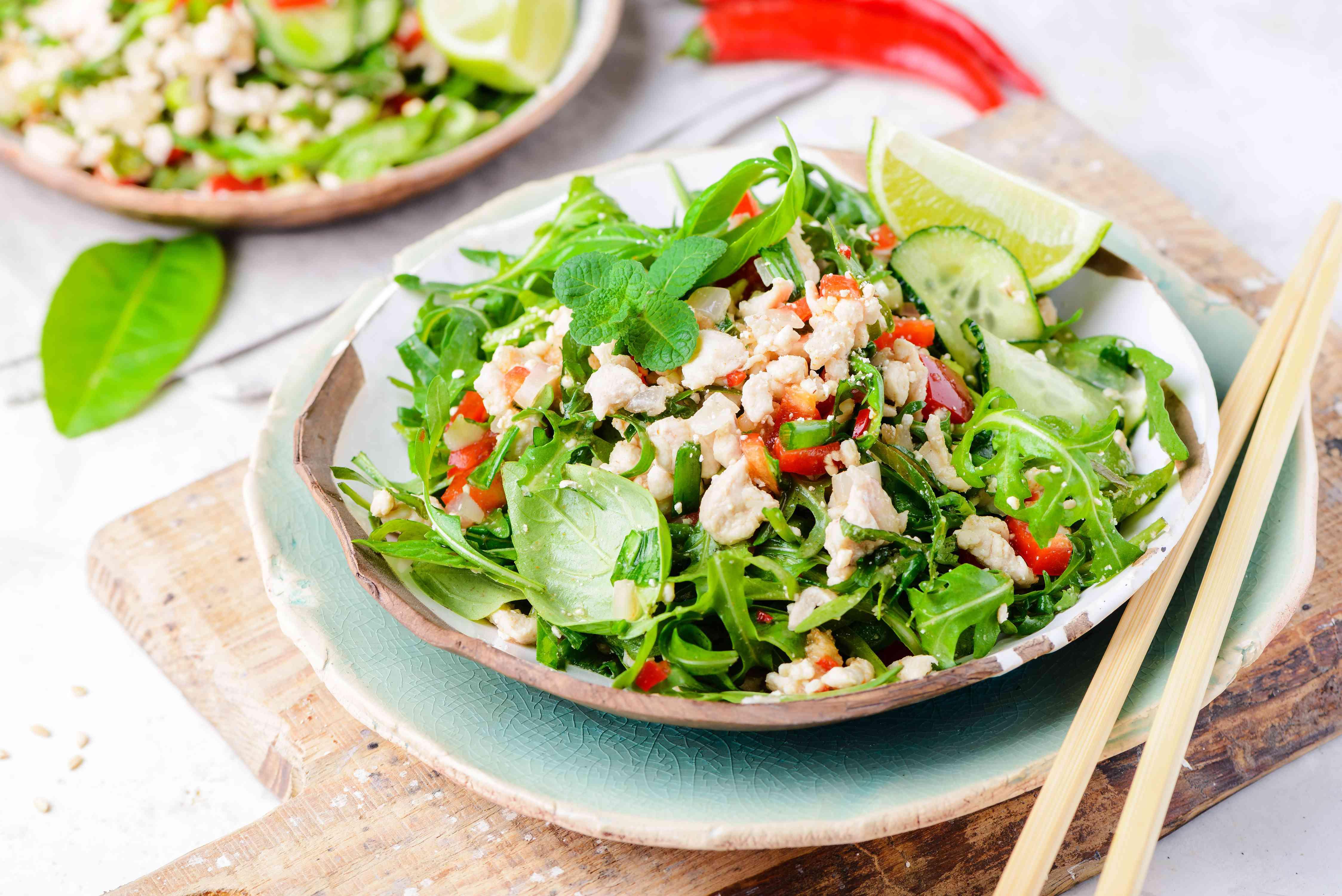 Larb gai thai salad recipe