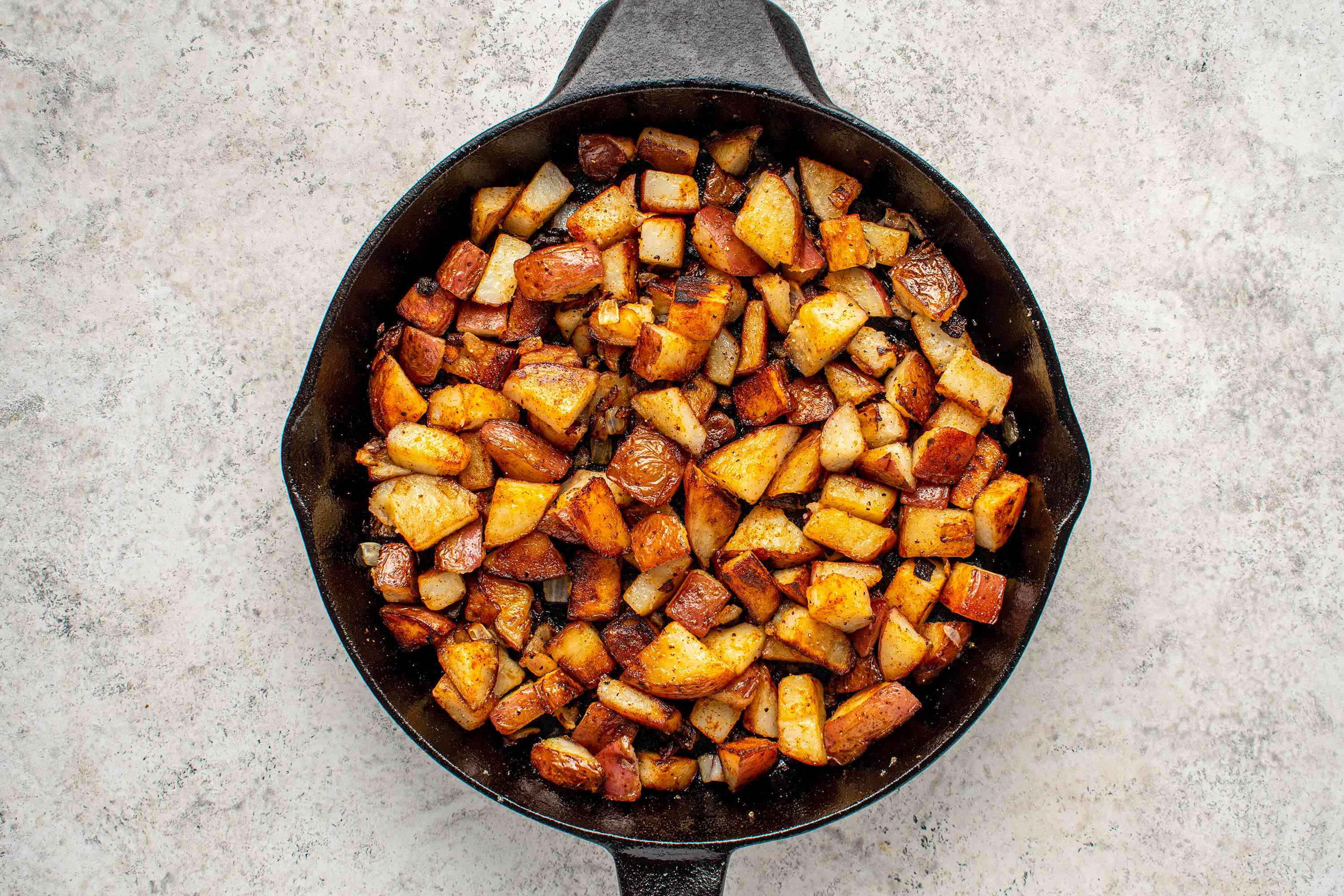Perfect Home Fries in a skillet