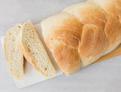 Easy milk-free braided white bread