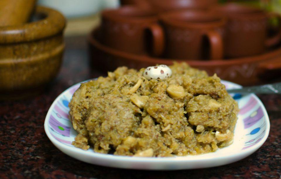 Indian milk gourd halwa