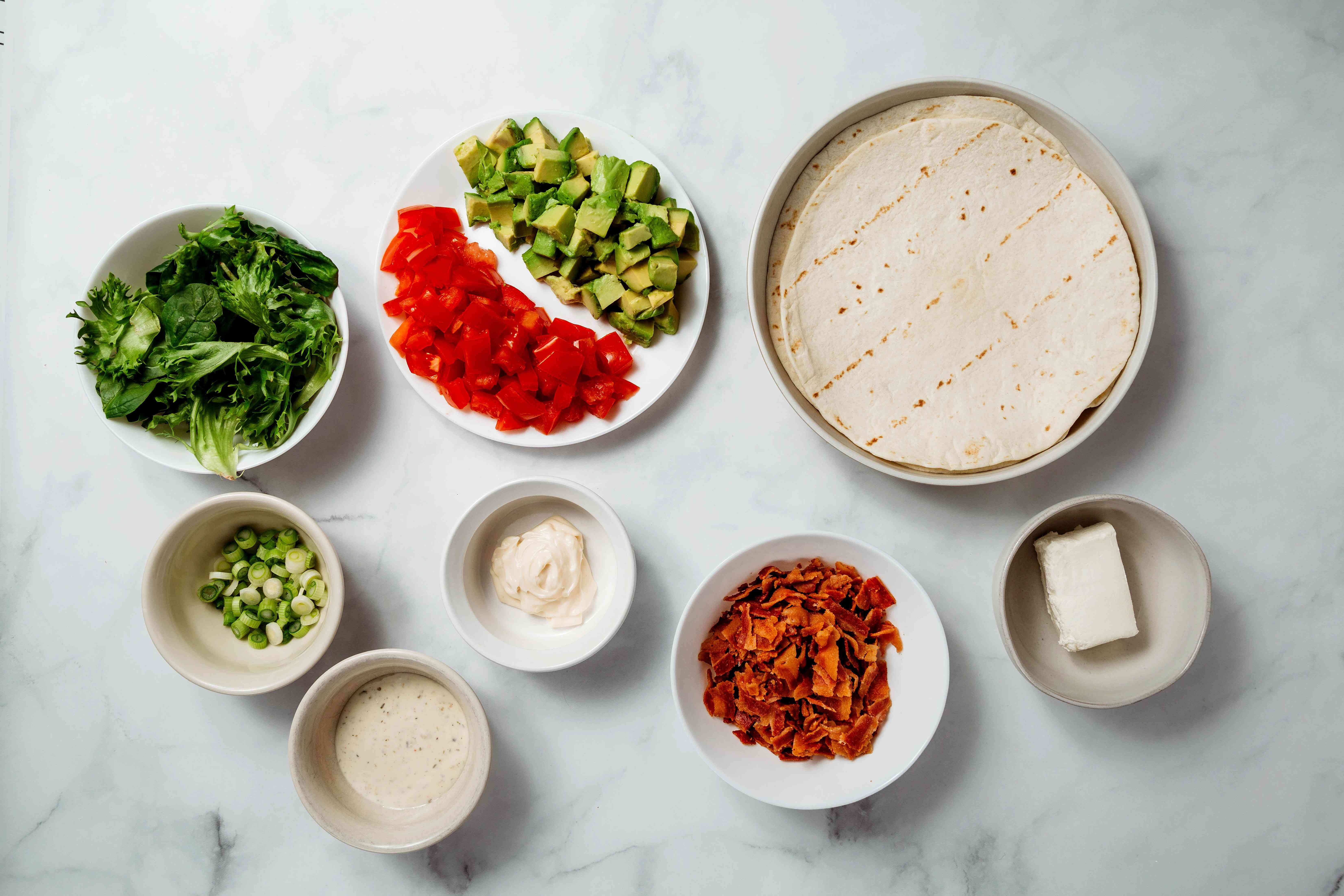 BLT Wrap Sandwich ingredients