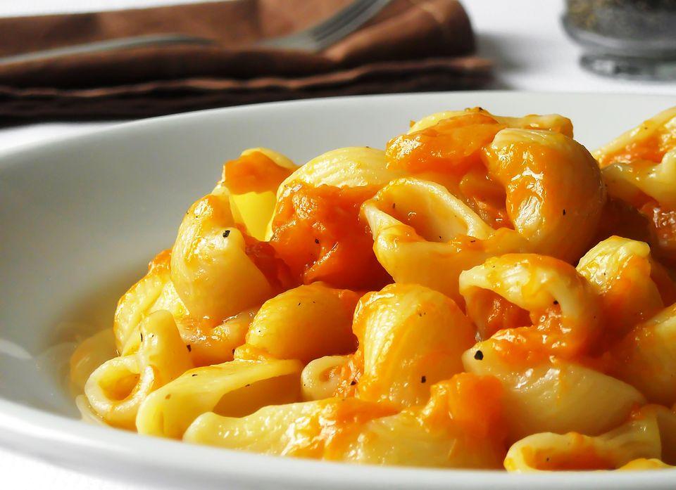 Vegetarian pumpkin pasta