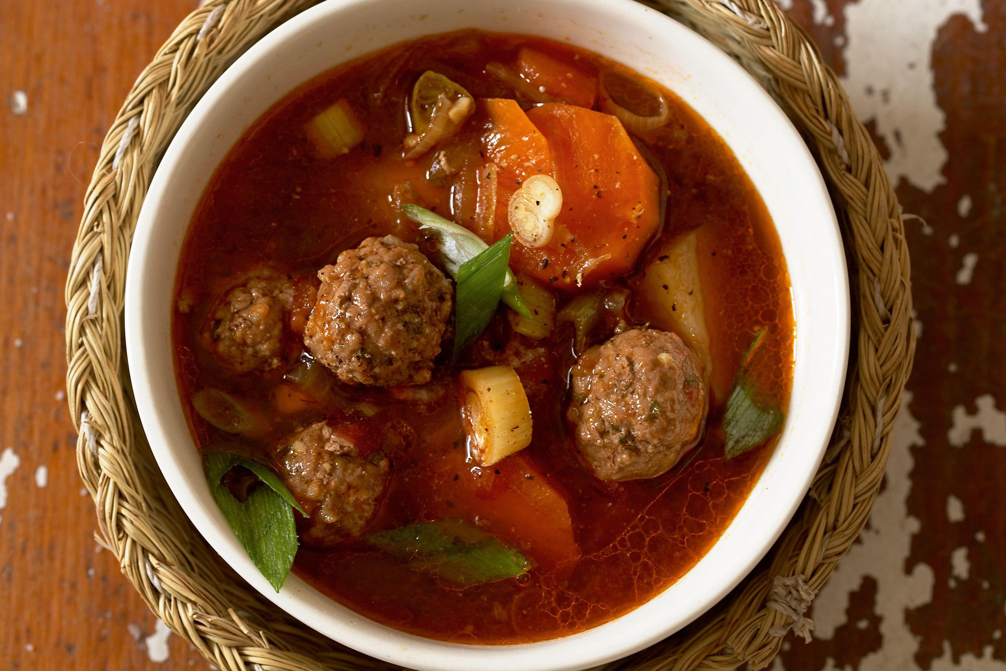 Tomato Meatball Soup