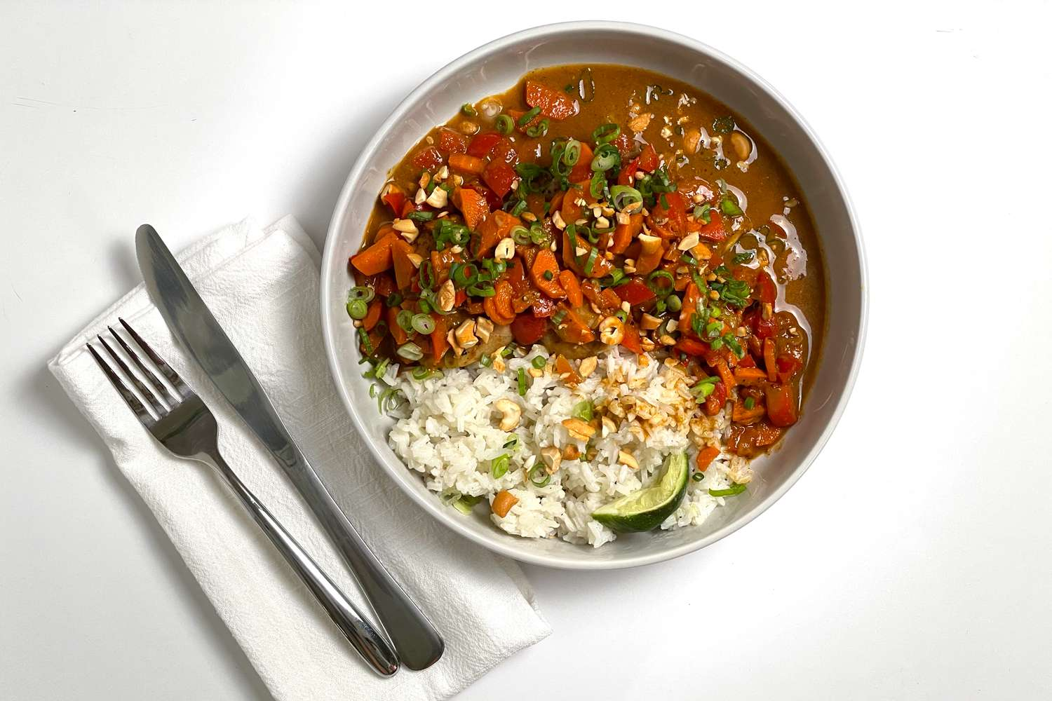 Blue Apron meal in white bowl