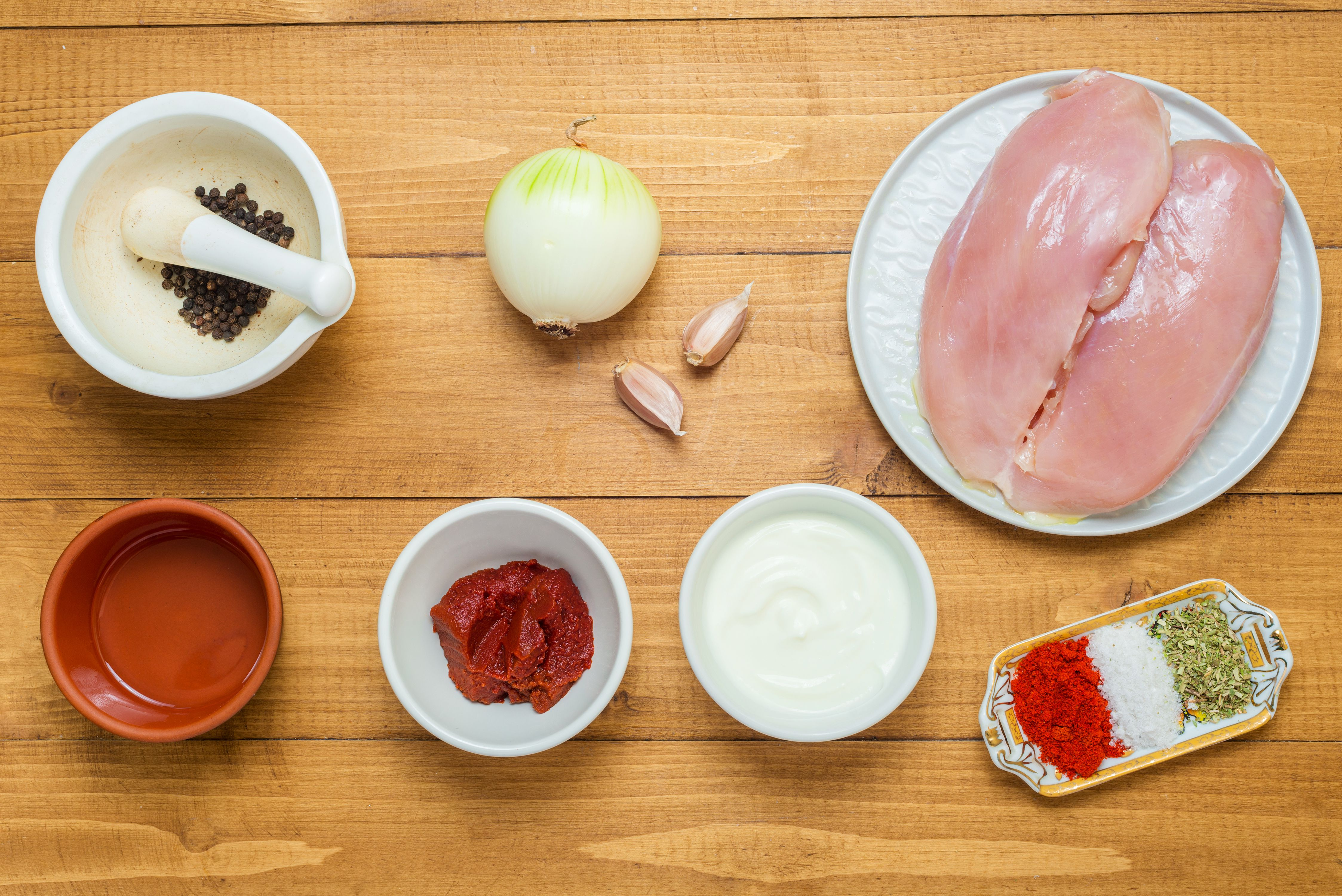 Turkish chicken kebab ingredients