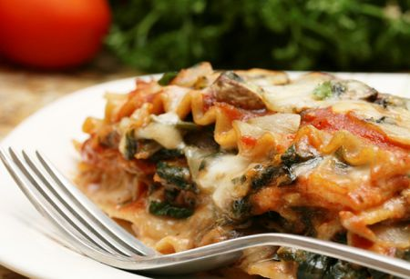 Fantastic Easy Whole Wheat Vegetarian Spinach Lasagna Interior Design Ideas Pimpapslepicentreinfo