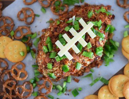 Jalapeno-Cheddar Football Cheese Ball