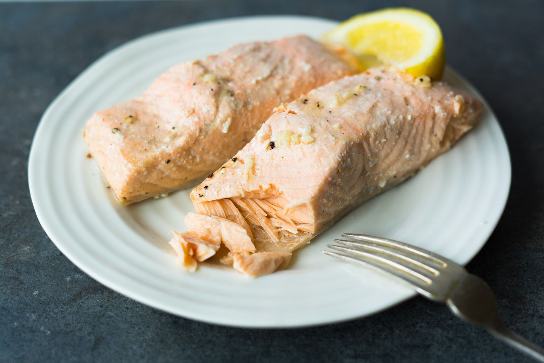 Simple salmon fillets.