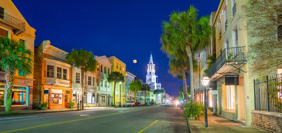 Broad Street in Charleston, South Carolina, USA.