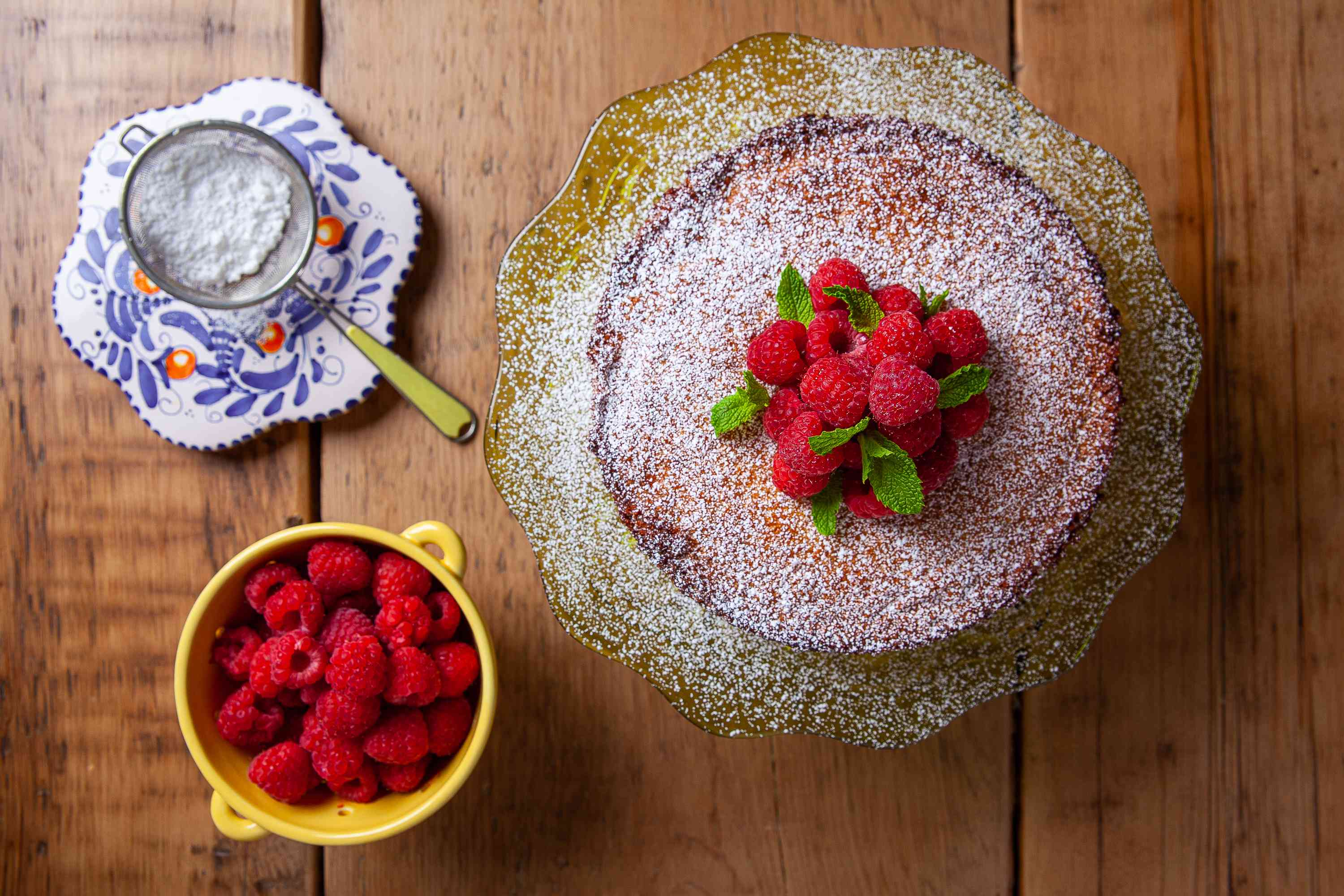 Top the Gluten-Free Coconut Cake with fruit
