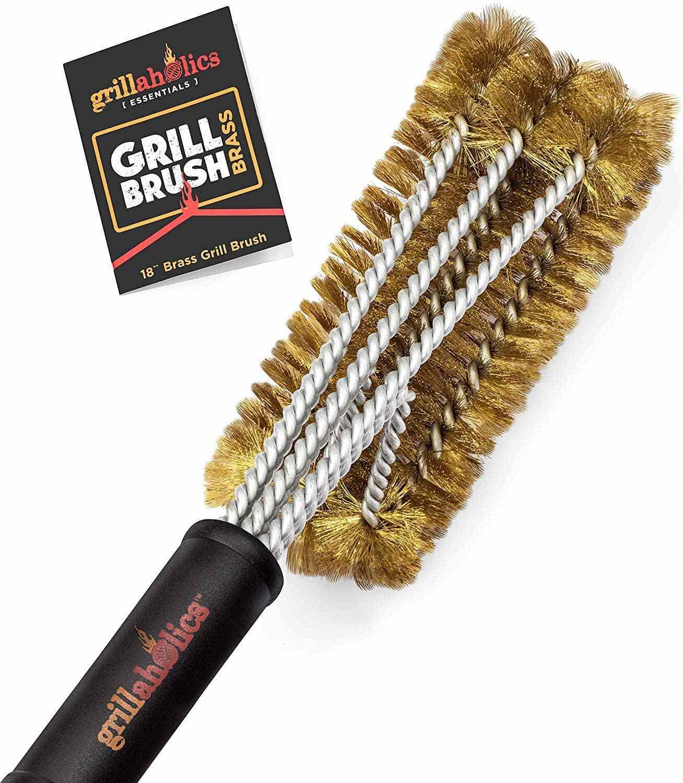 Grillaholics Essentials Brass Grill Brush
