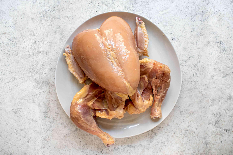 Remove the chicken skin