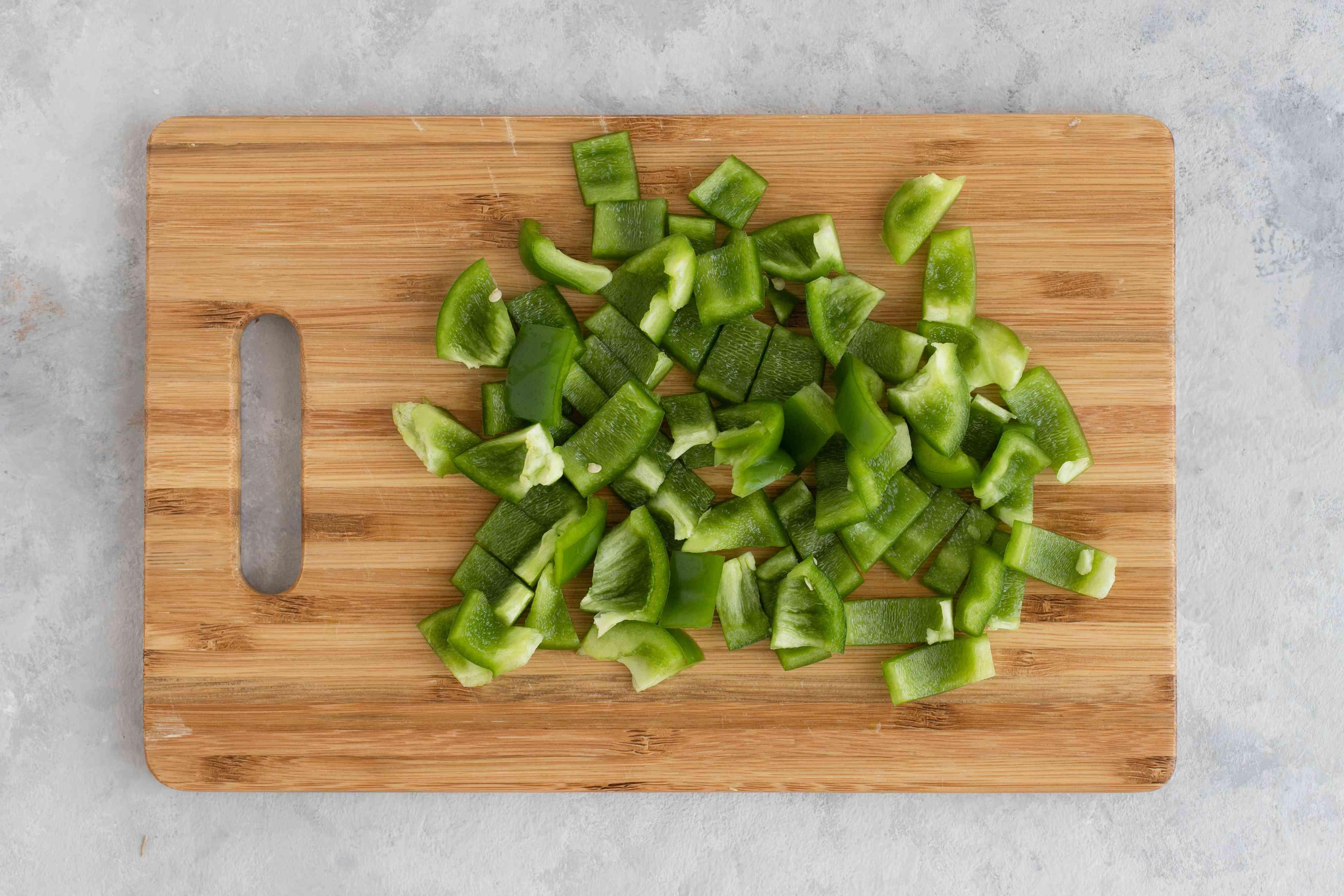 Diced bell pepper