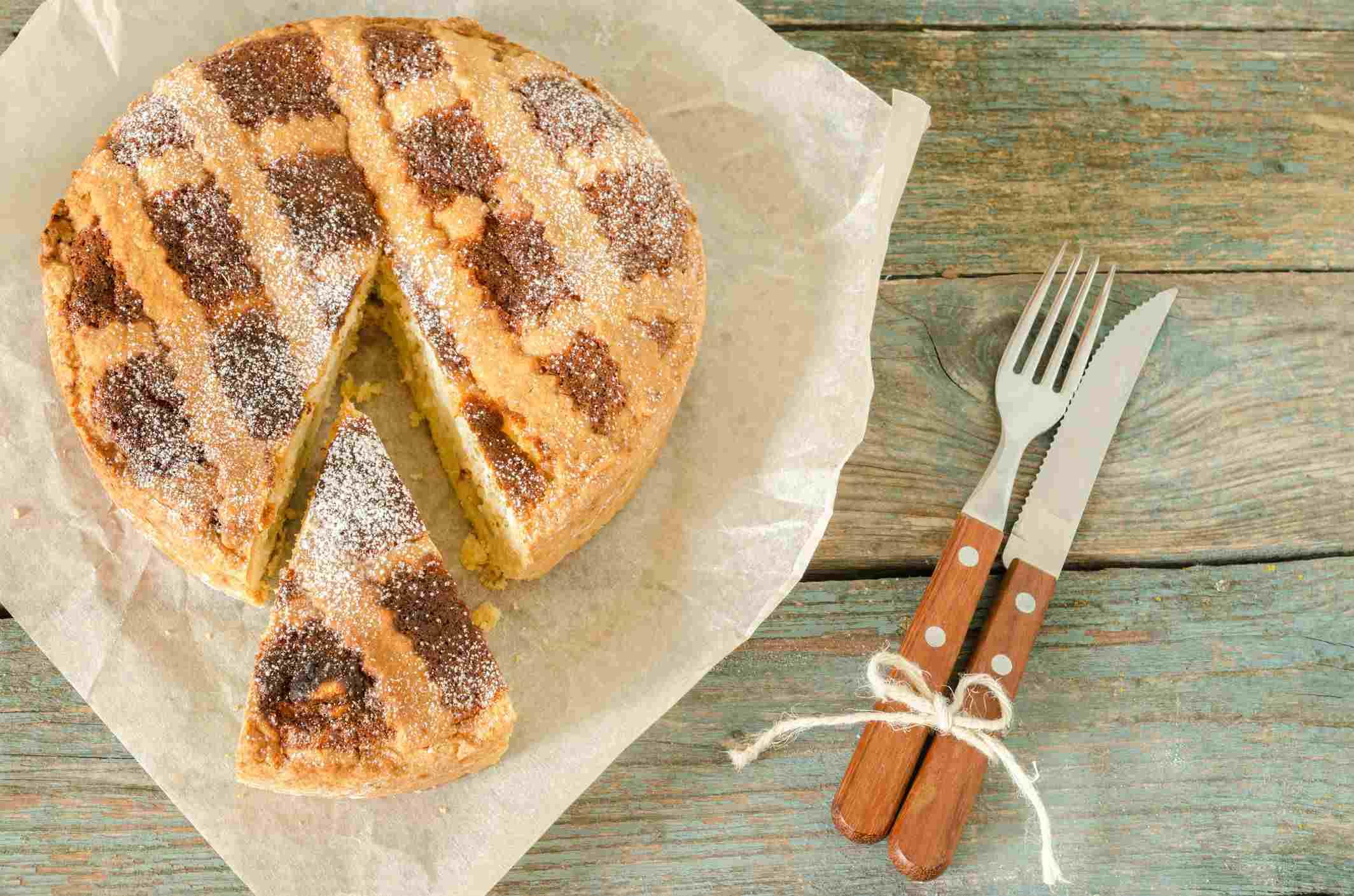 Neapolitan grain pie