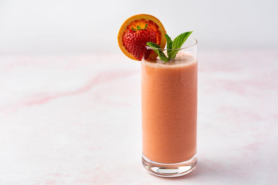 Blood Orange and Strawberry Smoothie