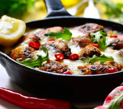 Roasted Cod With Cherry Tomatoes, Basil and Mozzarella