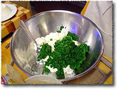 Making a Spinach Sformato: Combine Spinach and Ricotta