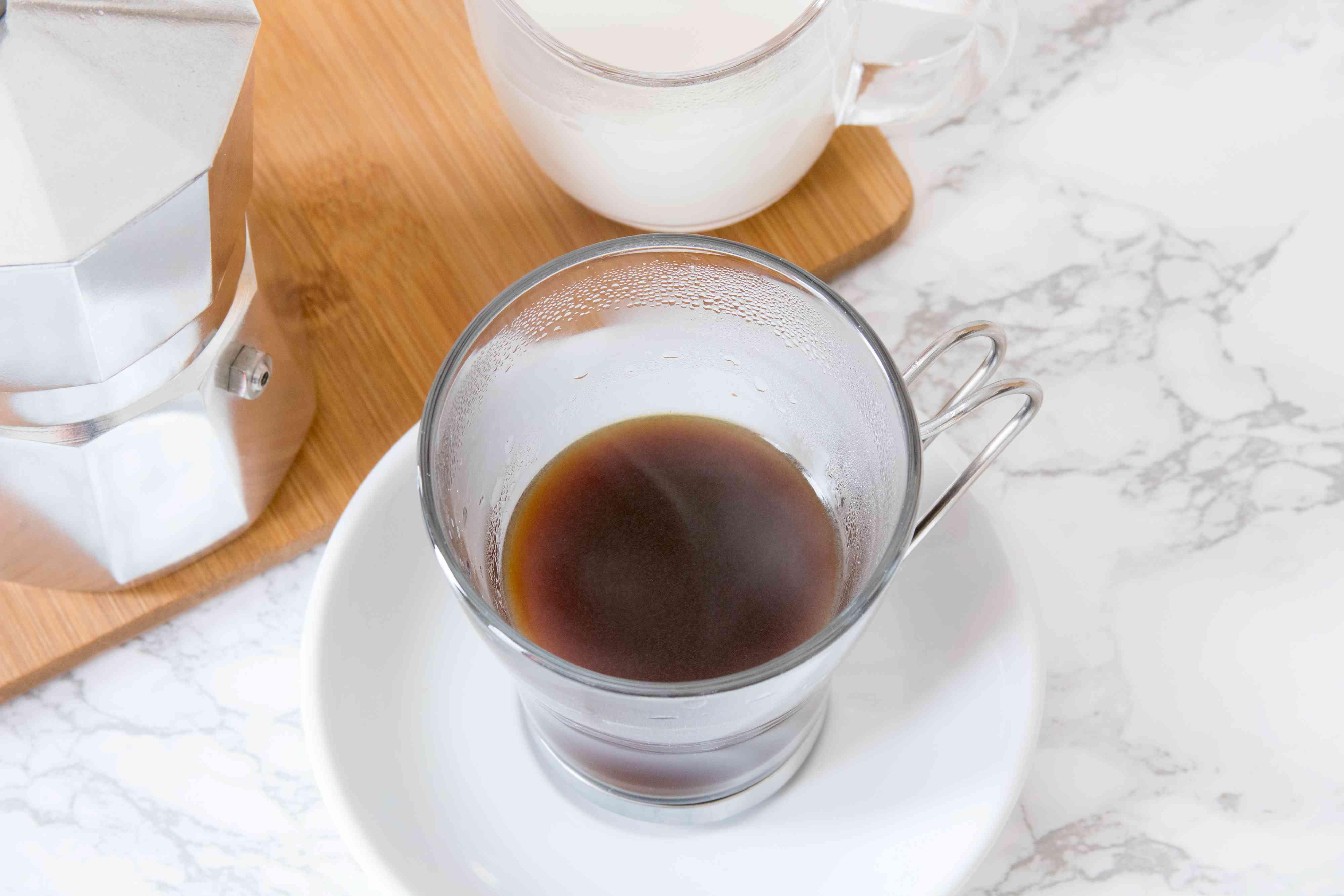 Making Cafe con Leche With Fresh Espresso