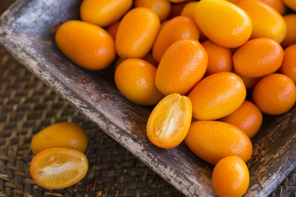 Whole and Halved Kumquats