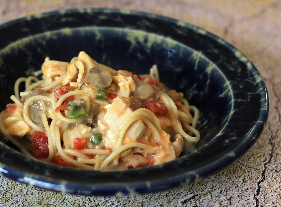 chicken spaghetti with tomatoes