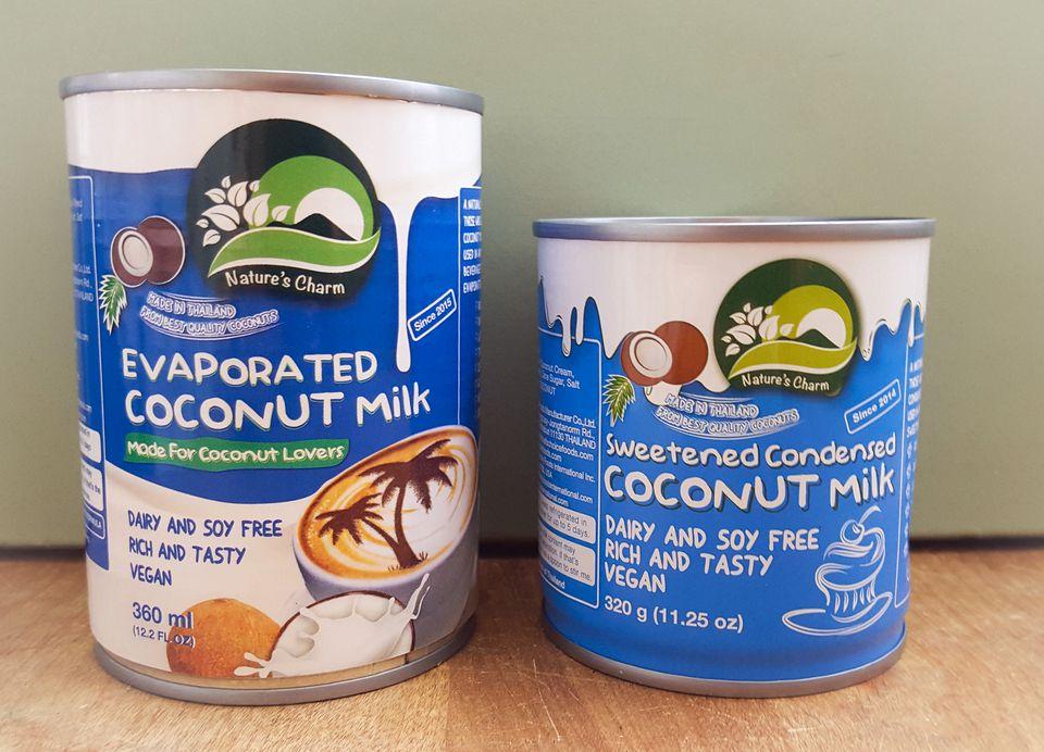 Nature's Charm vegan coconut baking milks