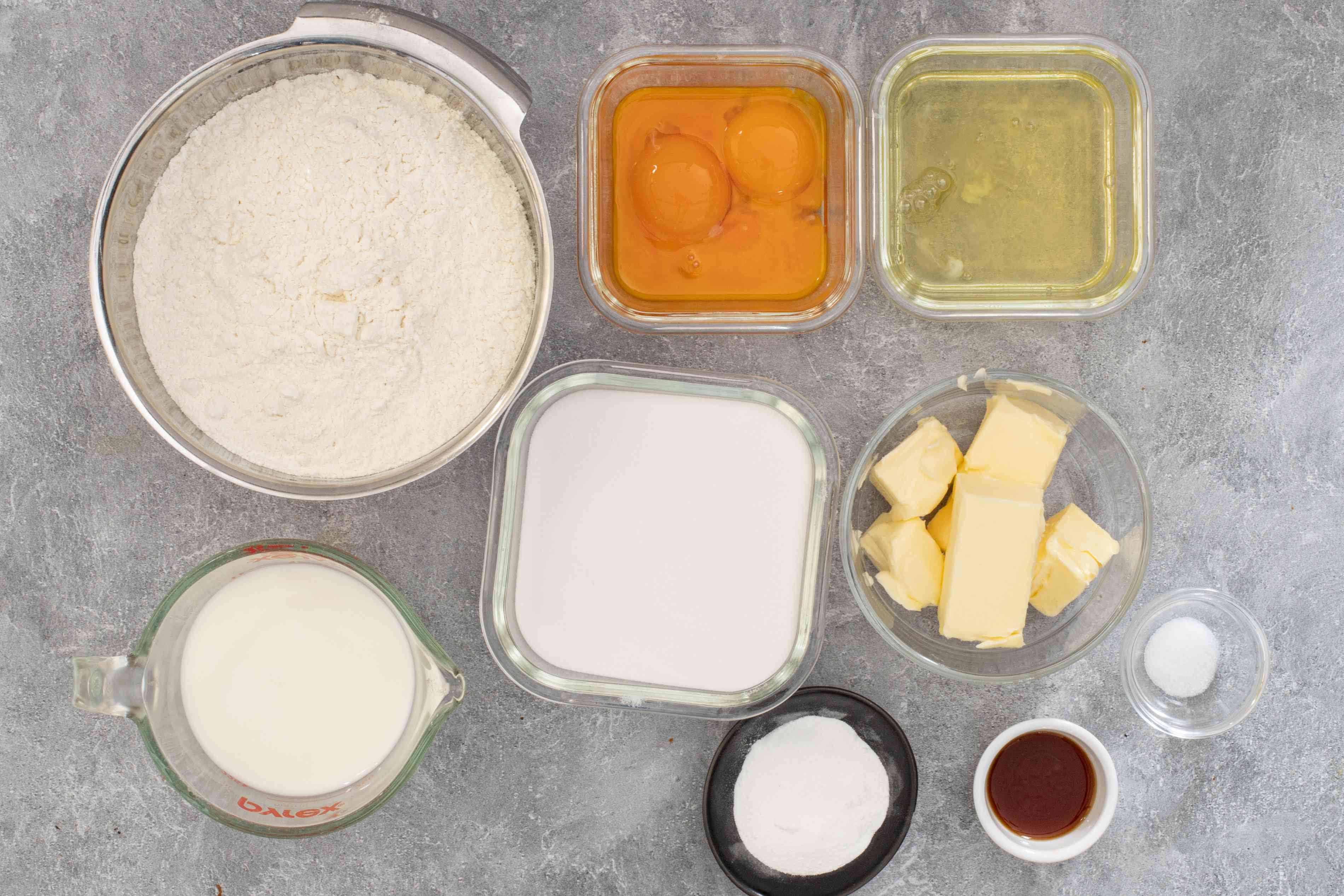 ingredients for doberge layer cake