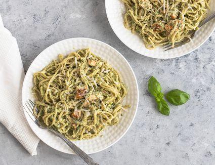 Pesto salmon pasta recipe